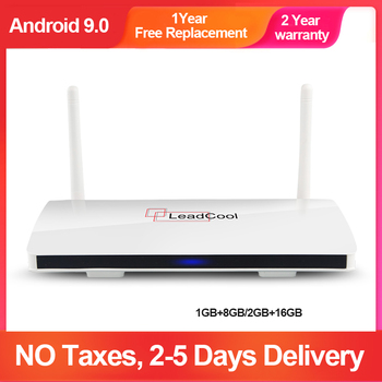 Leadcool TV Box Android9.0 2020 Amlogic S905W Quad-Core Full HD 1080P 1G8G/2G16G 2.4 G Wifi Media Player 4K, Smart TV BOX Leadcool